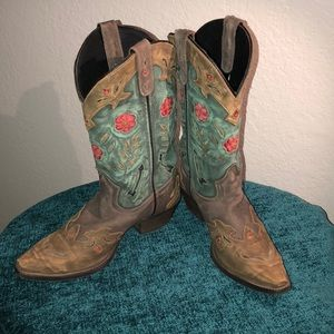 🤠 Laredo Women's Leather Cowboy Boots 🤠 Size 9